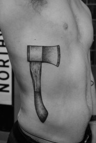 Hatchet tattoo