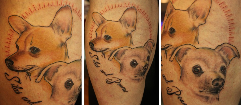 Pet portrait tattoo