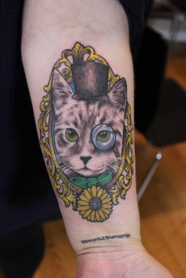 a gentleman cat tattoo