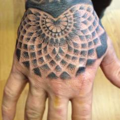 stipple hand mandala-by Delan