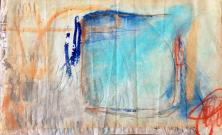 (SOLD) Cell Study - oil pastel, soft pastel, and graphite on layered papers - 6x9 inches - 2012