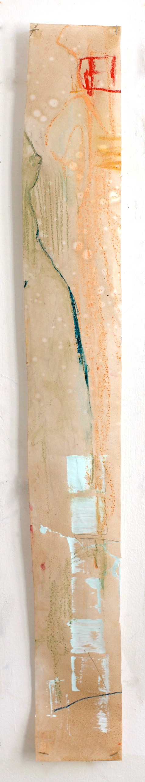 (Not for Sale) In Line - mixed media on vellum - 42x5 inches - 2012