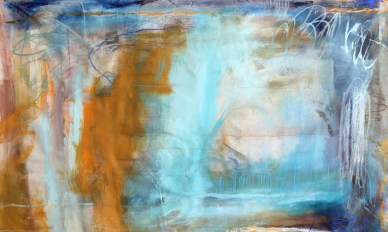 (SOLD) Chaos in Layers - mixed media on canvas - 50x82 inches - 2011