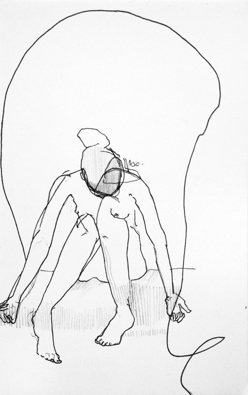 (SOLD) A Slip of the Pen - ink and graphite on paper - 8x6 inches - 2012