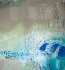A Will to Offer - mixed media on canvas - 40x34 inches - 2013