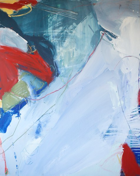 Nothing Held, Nothing Lost - mixed media on canvas - 60x48 inches - 2014
