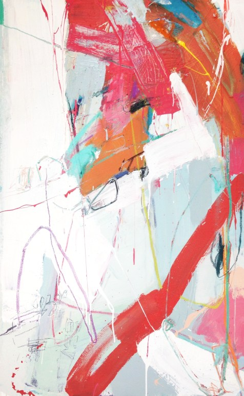 (SOLD) Truth and Dare - mixed media on canvas - 48x30 inches- 2014