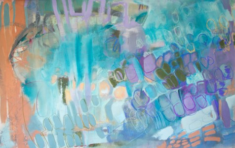 To: Control, Love: God - mixed media on unprimed canvas - 78x120 inches - 2014