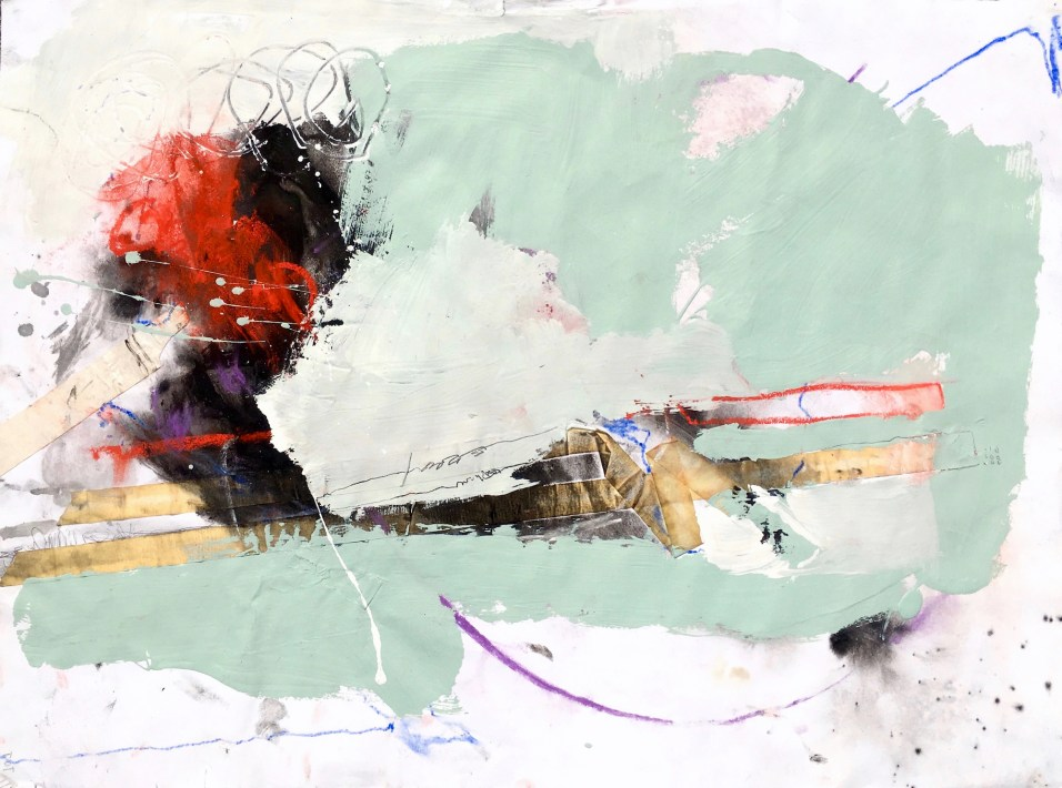 A Mending Process - mixed media on paper - 18x24 inches - 2015