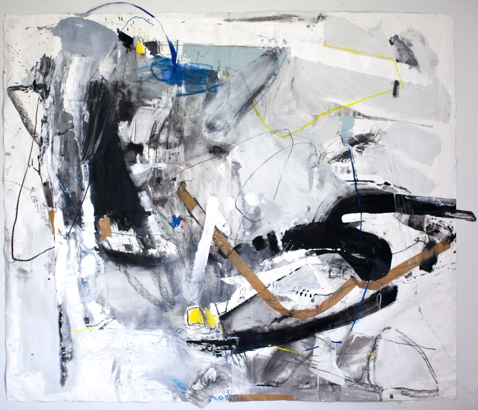 Transfiguration - mixed media on paper - 72x84 inches - 2015