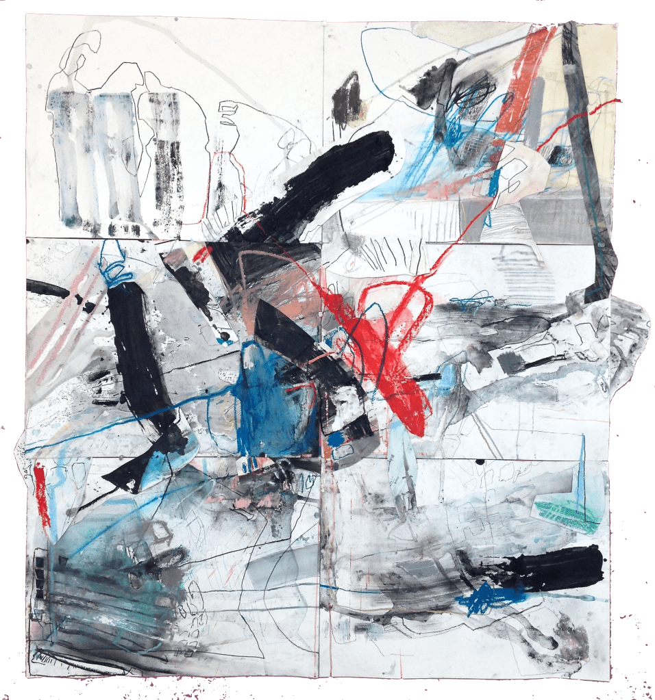 (Not For Sale) Craving and Keeping - mixed media on paper (6 panels) - 54x48 inches - 2014