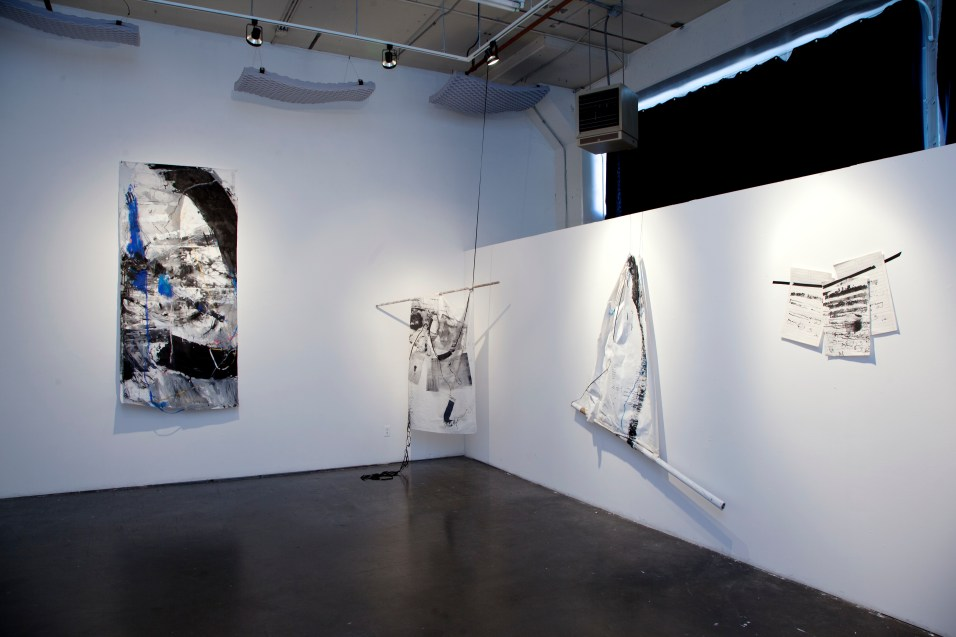 That Which Is Not Seen, Incarnation, Surrender Flag, and Autobiographies (installation)