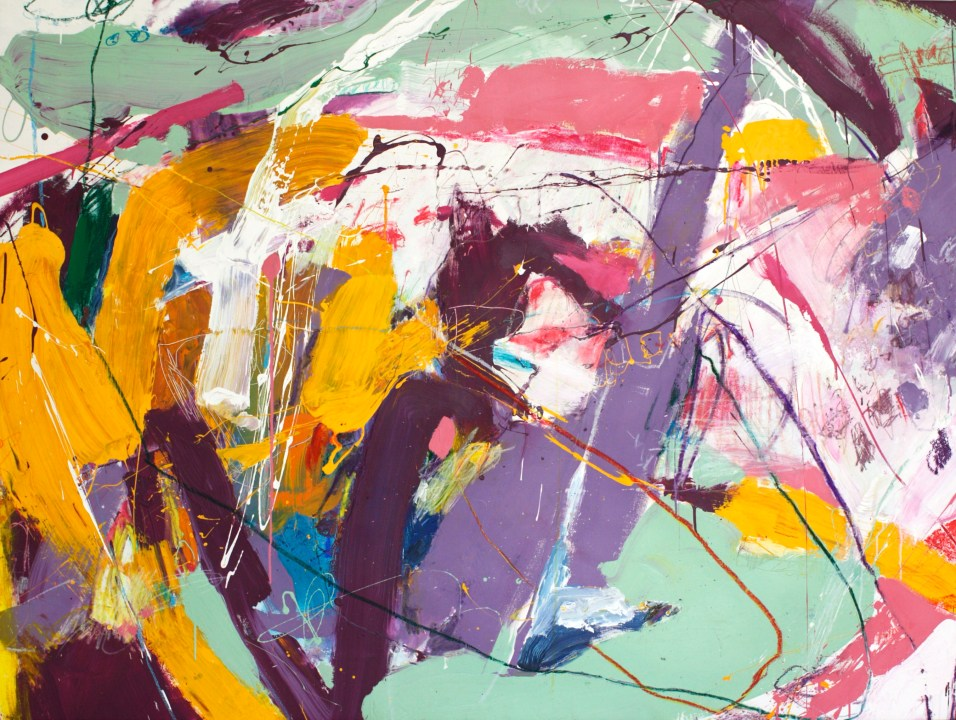 A Wild Gesture - mixed media on canvas - 54x72 inches - 2015