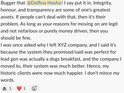Honest Answers Why Did You Leave Your Last Job slack