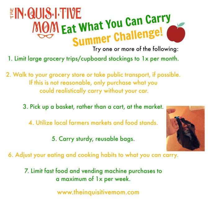 Eat What You Can Carry Summer Challenge List