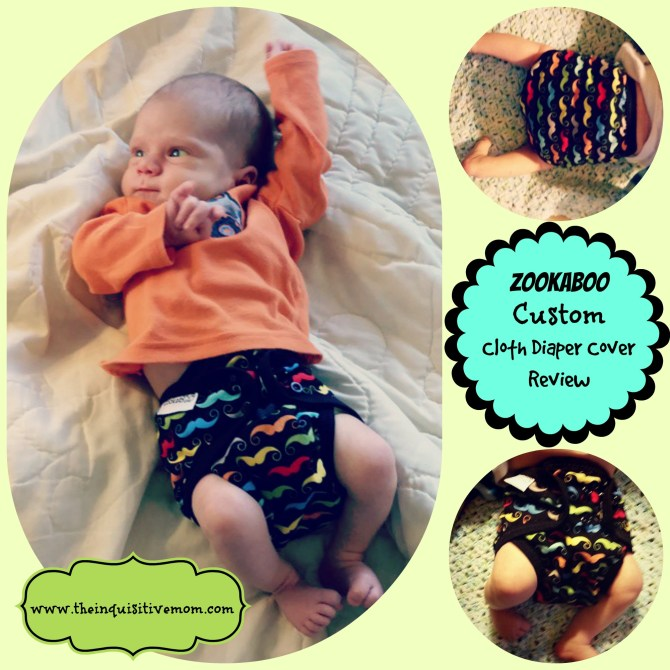 Zookaboo Custom Cloth Diaper Cover Review #4thTimeBabyShower