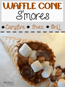 Galentine's Day Waffles - Waffle Cone S'mores