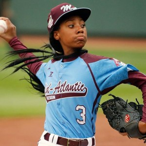 I introduced my daughter to Mo'ne Davis, a brave, bold, talented young woman, who is also kind and gracious in the face of teasing.