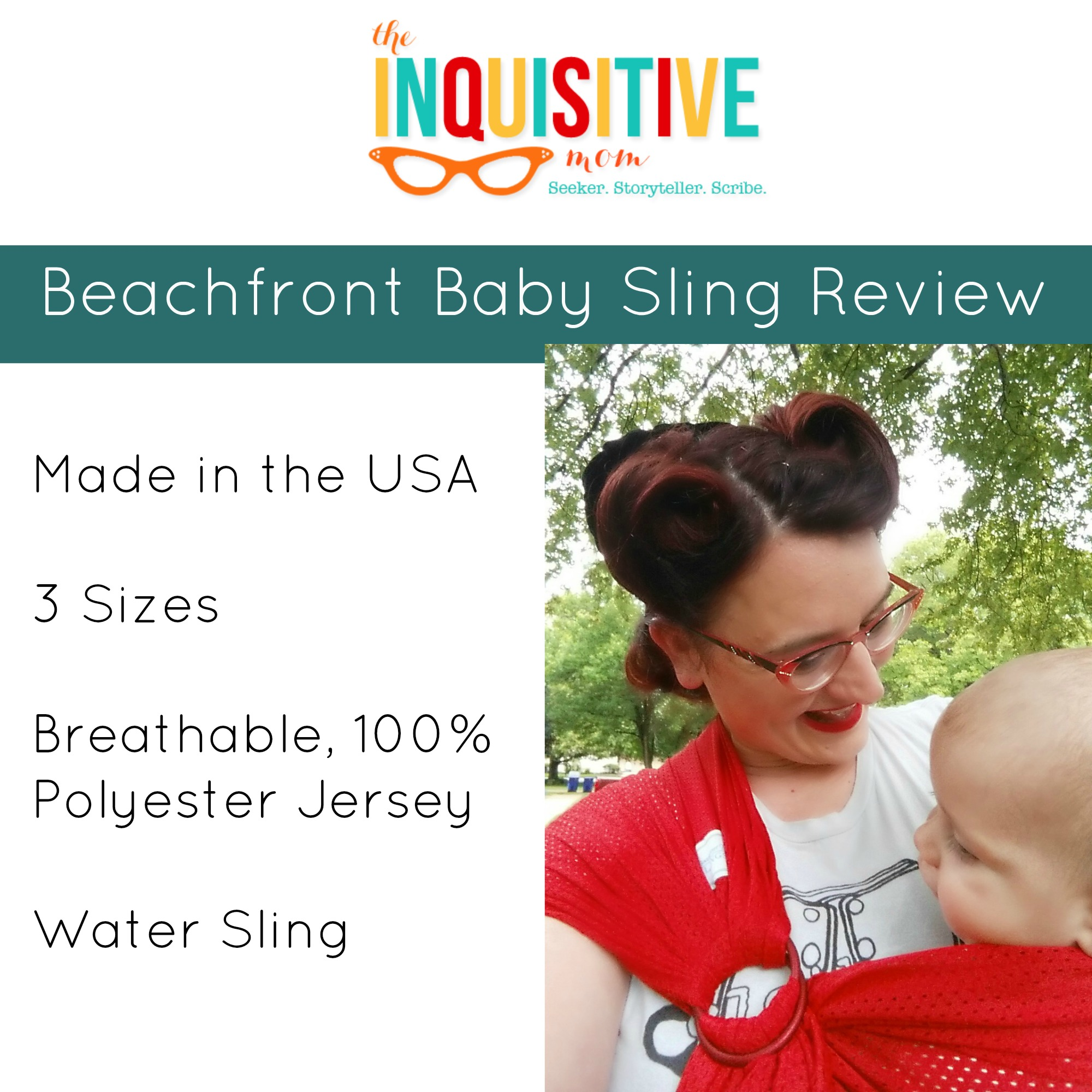 Beachfront Baby Sling Review The Inquisitive Mom Blog