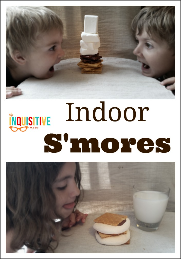 Indoor S'mores Recipe from The Inquisitive Mom