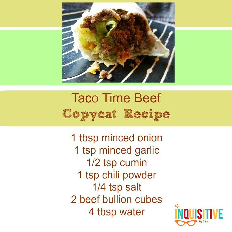 Taco Time Beef Copycat Recipe from The Inquisitive Mom