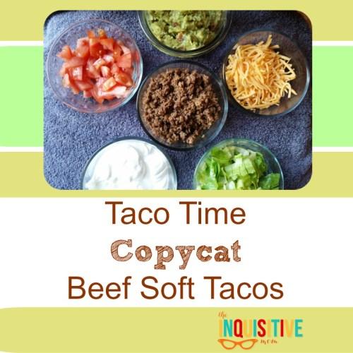 Taco Time Copycat Beef Soft Tacos.
