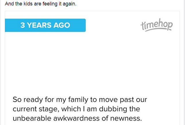 The Unbearable Awkwardness of Newness from The Inquisitive Mom