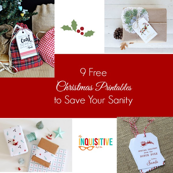 9 Free Christmas Printables to Save Your Sanity