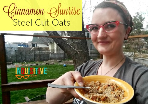 Cinnamon Sunrise Steel Cut Oats. A delicious way to start the day!