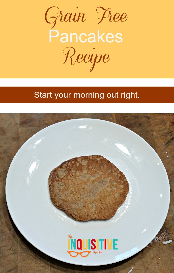 Grain Free Pancakes Recipe from The Inquisitive Mom.