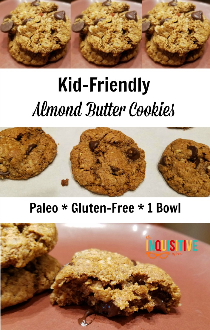 Kid-Friendly Almond Butter Cookies. Paleo, Gluten-Free, 1 Bowl. From The Inquisitive Mom.