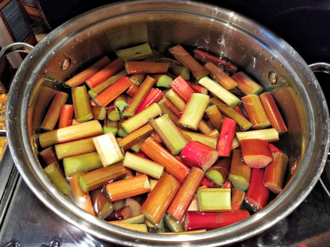 Cooking Rhubarb - Strawberry Rhubarb Freezer Jam Recipe