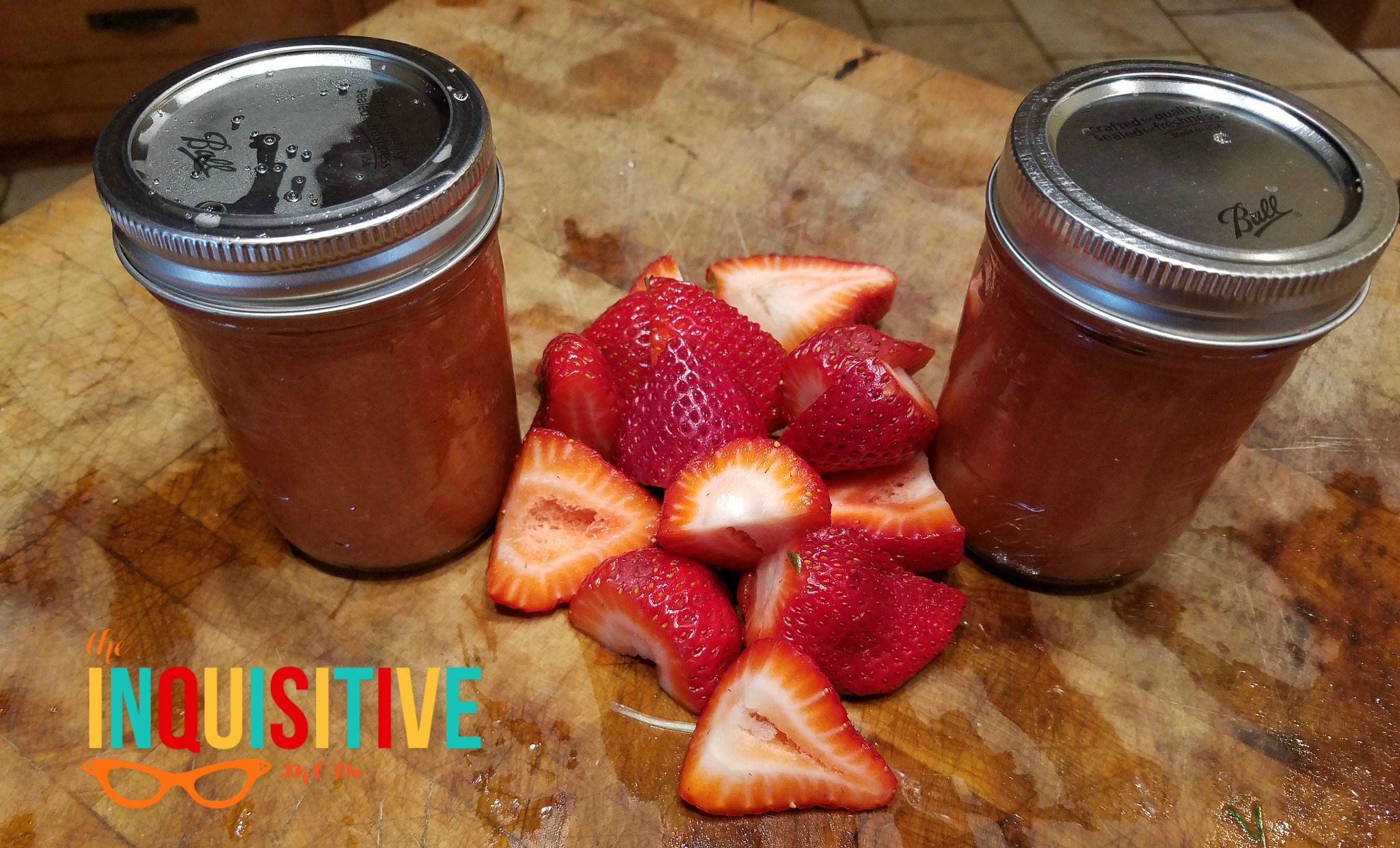 Paleo Strawberry Rhubarb Freezer Jam with Pomona's Pectin