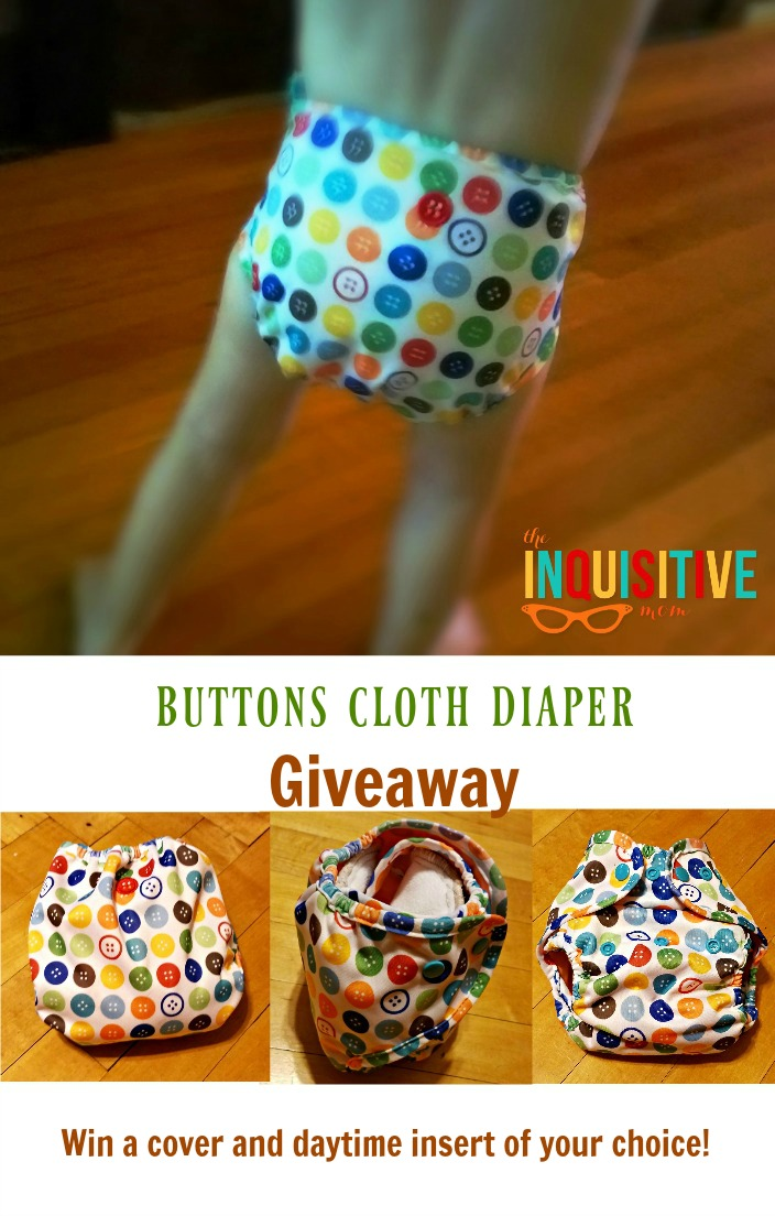 Buttons Cloth Diaper Giveaway from The Inquisitive Mom