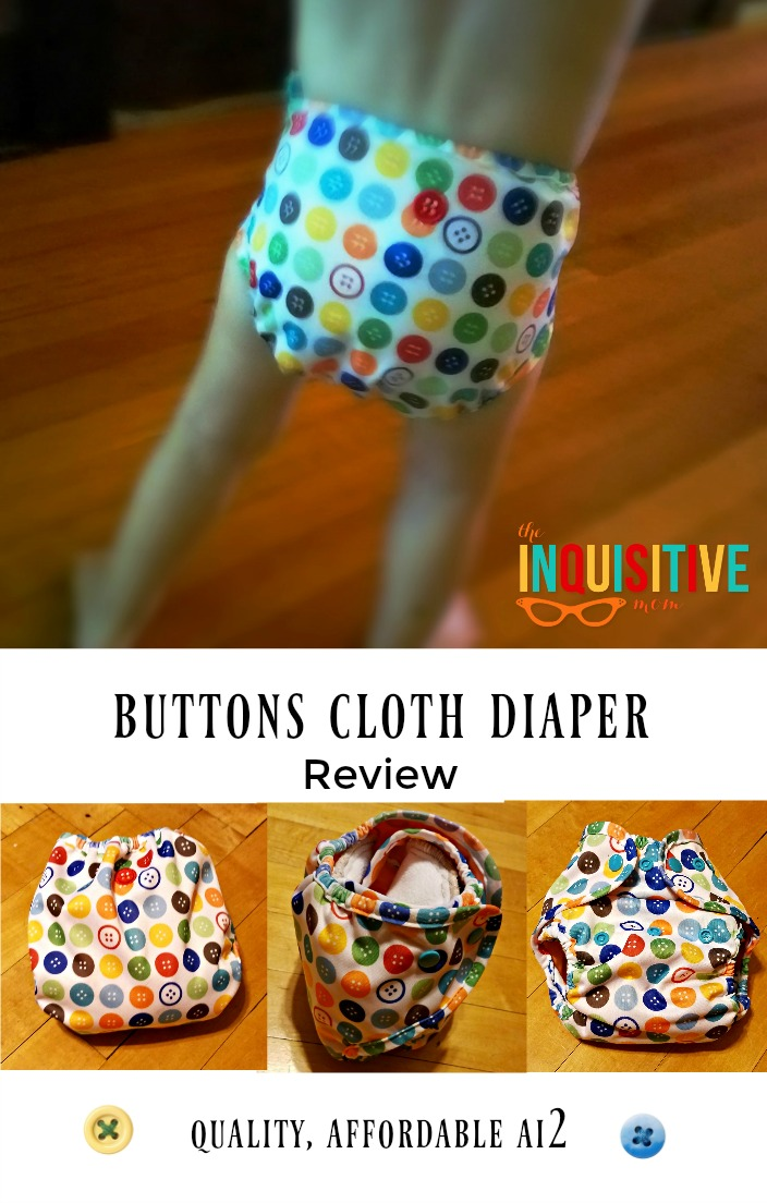 Buttons Cloth Diaper Review from The Inquisitive Mom