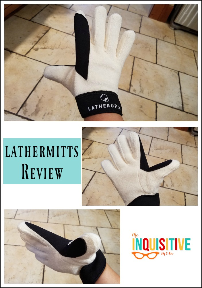 LatherMitts Review. Make bath time easier.