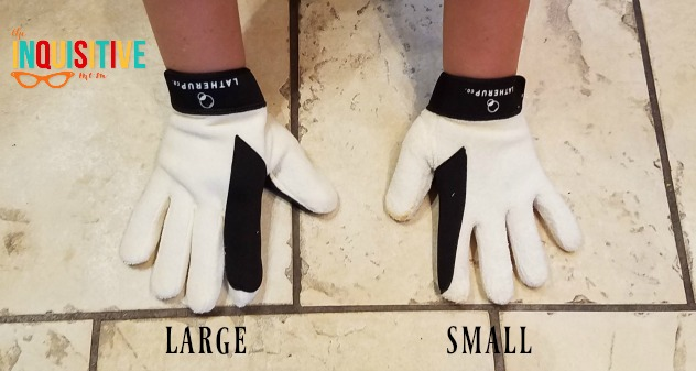 LatherMitts size comparison