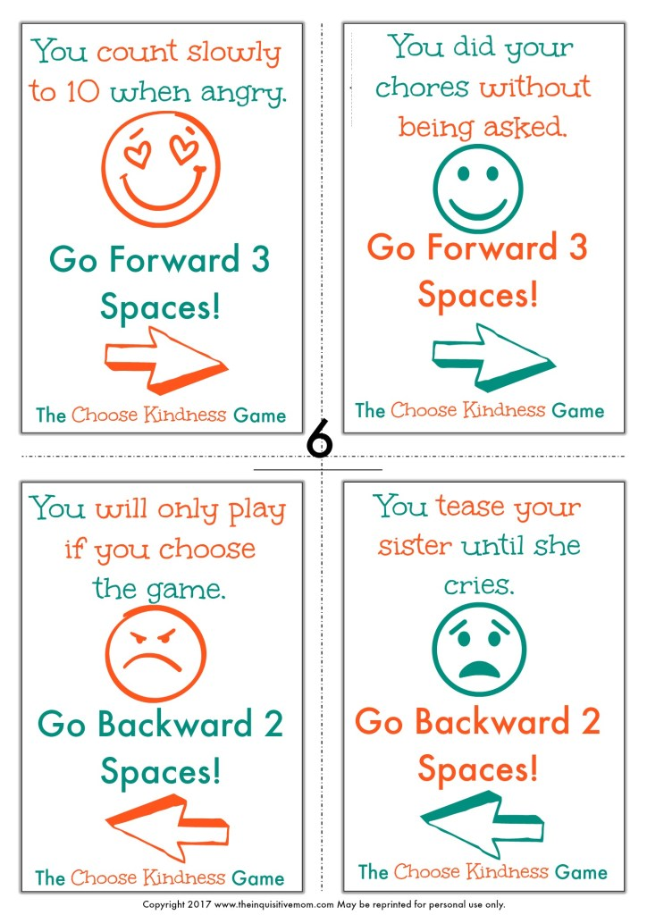 The Choose Kindness Game from The Inquisitive Mom Page 6