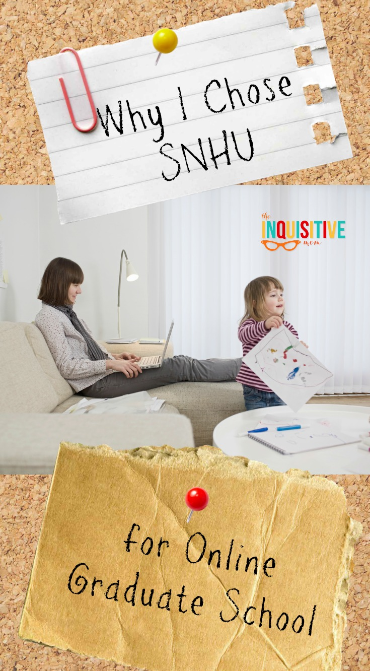 Why I Chose SNHU for Online Graduate School from The Inquisitive Mom