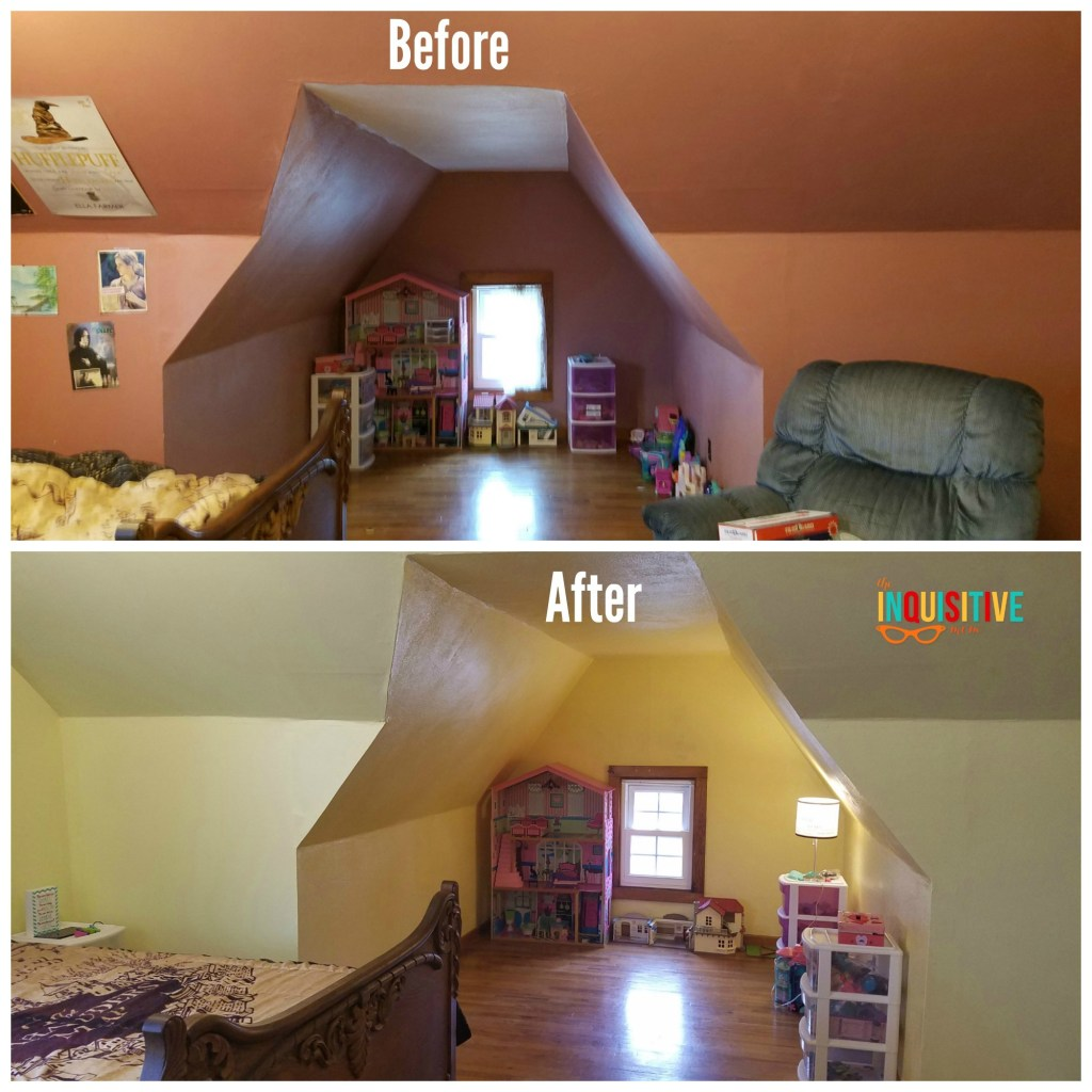 6 DIY Painting Tips from The Inquisitive Mom Before and After