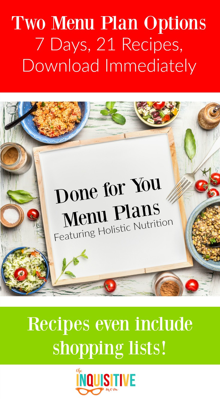 Done for You Menu Plan featuring Holistic Nutrition from Maggie Chilton, RHN