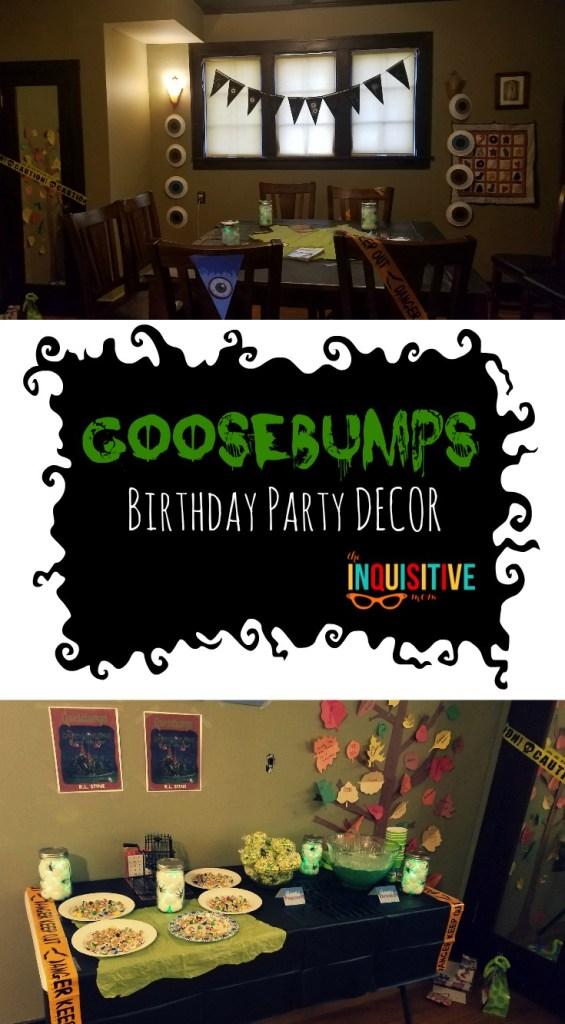 Goosebumps Birthday Party Decor