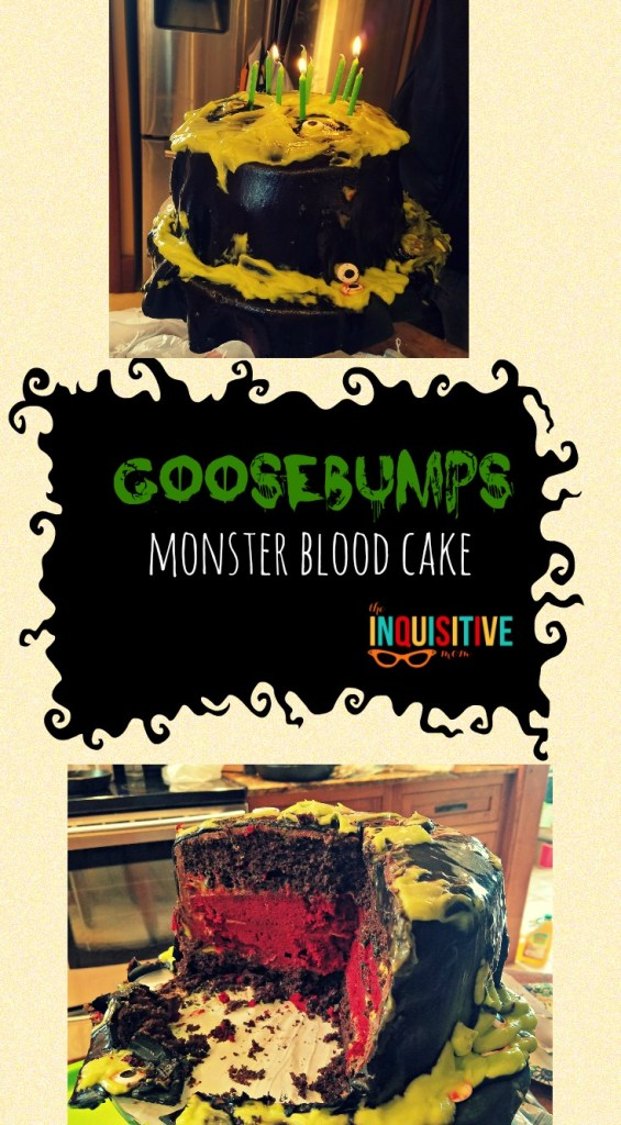 Goosebumps Birthday Party Monster Blood Cake