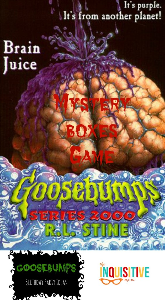 Mystery Boxes Game Goosebumps Birthday Party Games