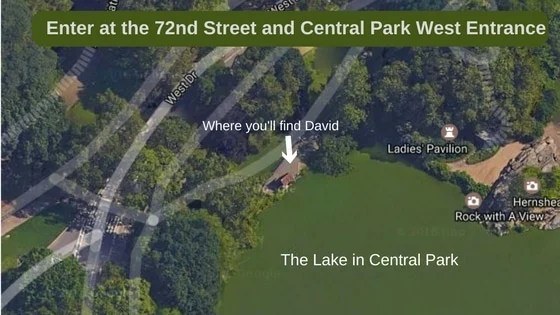 Map of where David Ippolito, The Guitar Man from Central Park, performs.- The Insatiable Traveler