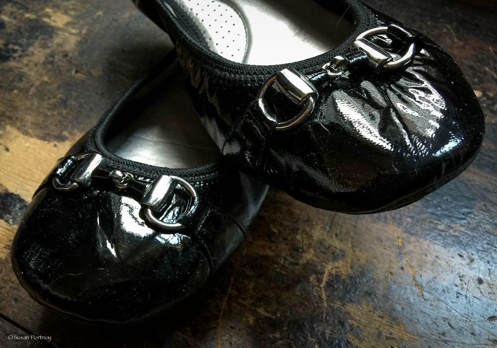 Me Too Black Patent Ballet Flats