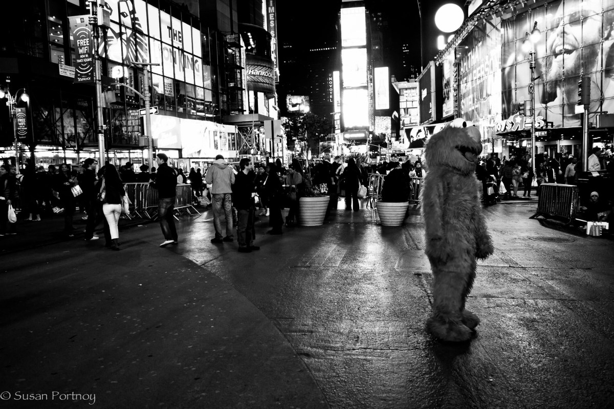 Elmo in Times Square