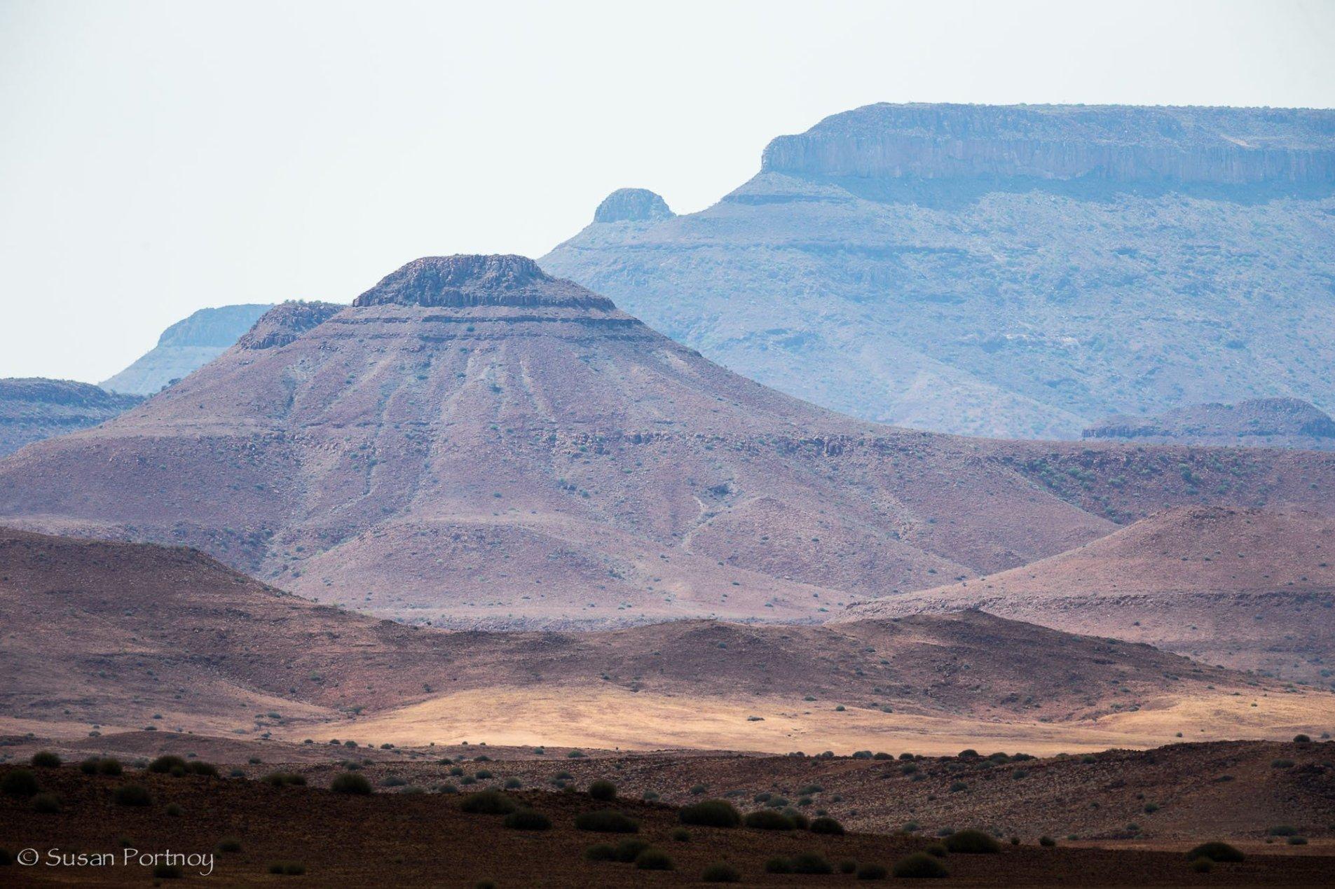 Mountains near Desert Rhino Camp in Namibia