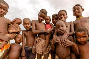 Himba children in Namibia