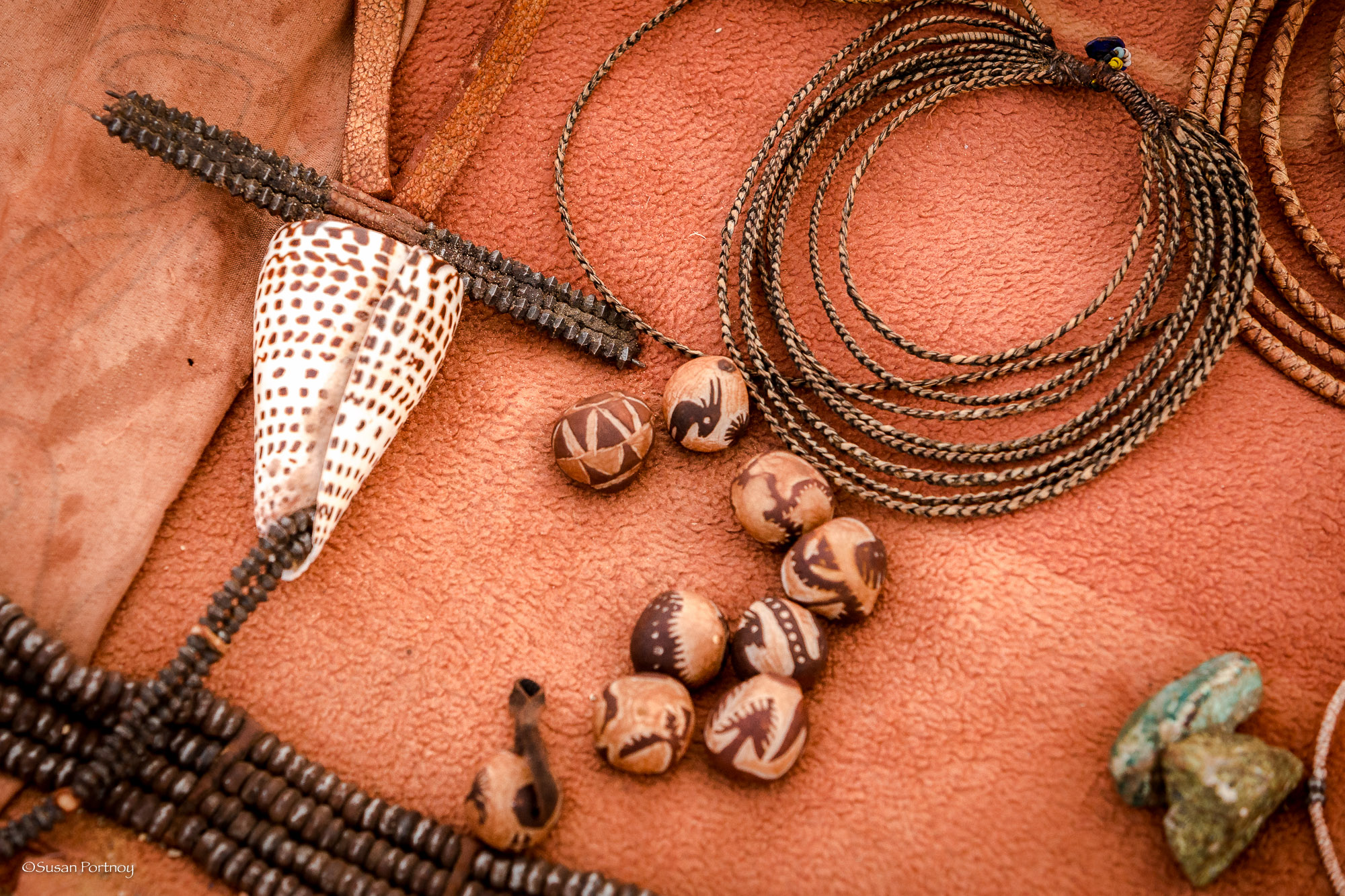 Some of the handmade jewelry the Himba were selling during my visit